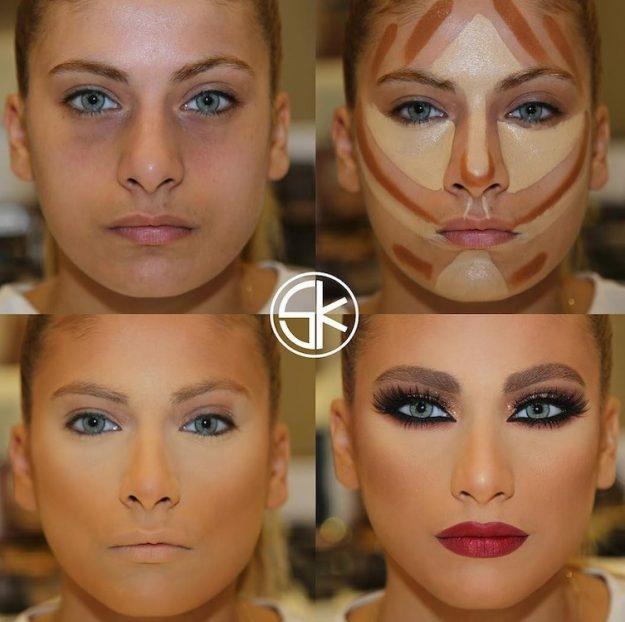Чудеса контуринга или как умелый визажист может изменить внешность до неузнаваемости